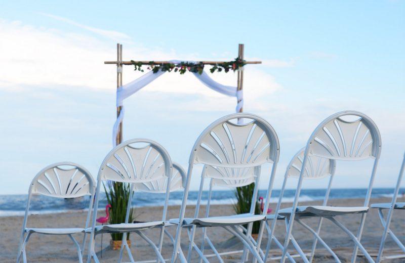 2-Pole-Wedding-Altar-Sunny-Beach-Weddings