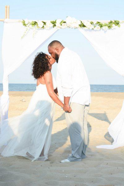 Ocean-City-MD-Beach-Weddings Kiss